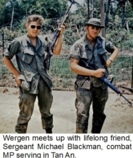 Tunnel Rat Tom Wergen with friend
