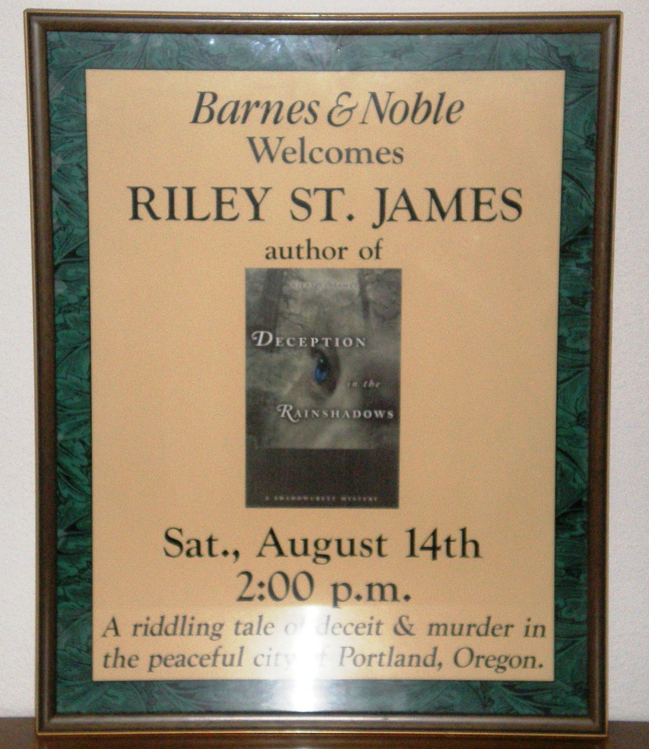 Riley St. James at Barnes & Noble